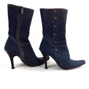 BeBe Jean Stiletto Boots Copper Mid Shaft 6.5M